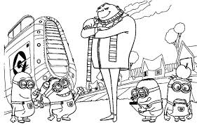 despicable minion coloring pages gekimoe u2022 1872