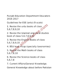 nts educators guidelines for ese 9 scale 2016 2017 all online free