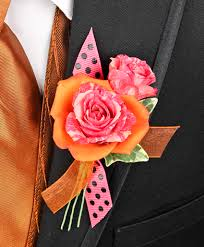 prom corsage orange pink prom corsage personal flowers gallery