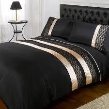 black gold midnight double duvet cover set brandalley