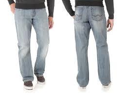 wrangler light blue jeans wrangler new blue light bleached mens boot cut relaxed fit denim