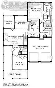 Lake Home Plans Narrow Lot by 100 Narrow House Plan Massive Mediterranean House Plan