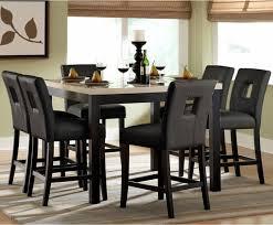 archstone 7 piece black counter height set modern dining modern