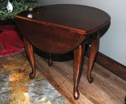 drop leaf end table kincaid queen anne style drop leaf side table rosewood bargain barn