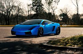 wrapped lamborghini matte blue wrapped lamborghini gallardo by superior auto design
