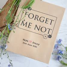 forget me not seed packets 10 forget me not seed packet favours by wedding in a teacup