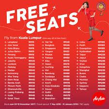 airasia singapore promo airasia free seats november 2017 flight tickets promotion