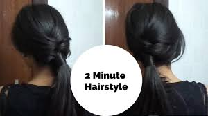 2 minute easy everyday hairstyle for college work u0026 i