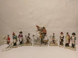 napoleon italy porcelain porcelain collection of napoleon himself on a and soldiers