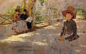 women under trellis 1886 william merritt chase wikiart org
