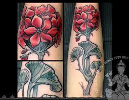 leg flower tattoos 46 geranium tattoos designs and ideas