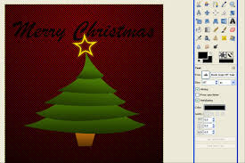 gimp digital art christmas tree u2013 merry christmas tutorial