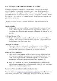 Resume Objective Samples For Any Job by Help With Resume Objective Statement Contegri Com
