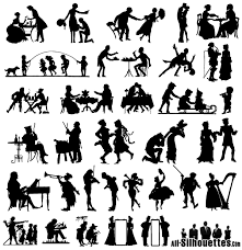 free silhouette images free vector 19th century silhouettes vector image 365psd com