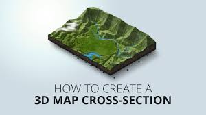 how to create an 3d map cross section youtube