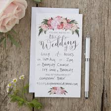 wedding invitations floral illustrated floral wedding invitations boho
