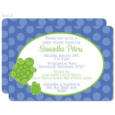 mod turtle baby shower invitations zone romande decoration