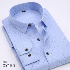 buy new spring men casual shirts fashion long sleeve brand printed