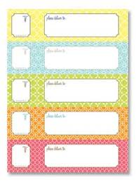printable labels wrap ribbon tags and bags pinterest