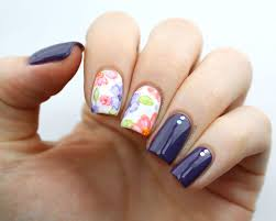 packapunchpolish watercolor floral nail art