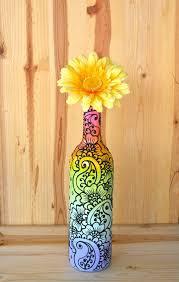 How To Paint A Vase Best 25 Wine Bottle Vases Ideas On Pinterest Wine Bottle