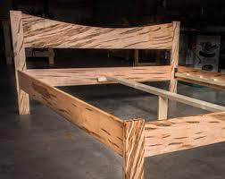 Simple Platform Bed Frame Wooden Platform Bed Etsy