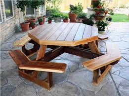 Red Cedar Octagon Walk In Picnic Table by Picnic Table Octagon Octagon Picnic Table Plans U2013 Home Decor