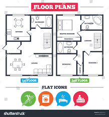 architecture plan furniture house floor plan stock vector architecture plan with furniture house floor plan hotel services icons washing machine or