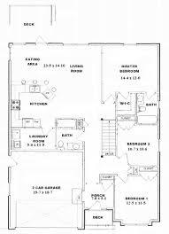apartments bungalow open concept floor plans 3 bedroom open