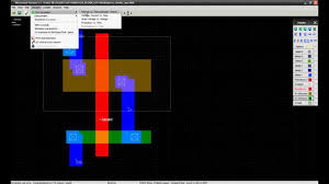 free cmos layout design software cmos inverter layout in microwind youtube