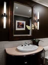 fetching dark small powder room wall design and alluring modern