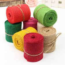 colored burlap ribbon online shop new sewing fabric 2m colored jute burlap hessian