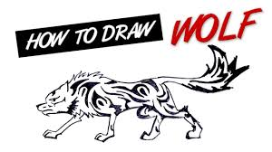 how to draw wolf tribal tattoo design learn to draw pinterest