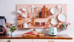 kitchen pegboard storage wall diy apartment therapy