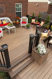 americana style deck with timbertech decking legacy collection in