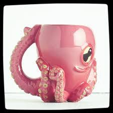 Coolest Coffe Mugs Pink Octopus Unique Coffee Mug Best Coffee Mugs