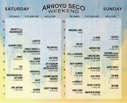 arroyo seco weekend printable set times