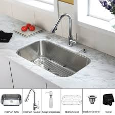 Undermount Kitchen Sink With Faucet Holes Stainless Steel Kitchen Sink Combination Kraususa Com