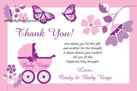baby shower gift thank you note wording ideas diabetesmang info