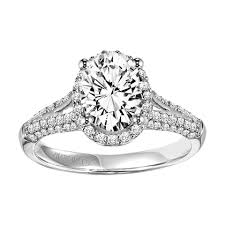 artcarved bridal 31 v327gvw ariel 14k white gold engagement ring by artcarved