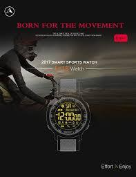 2017 new waterproof ip68 5atm smart watch passometer message