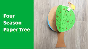 four season tree craft fun and educational craft for kids youtube