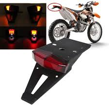 bicycle rear fender light red lens universal motorcycle dirt bike rear fender tail brake stop