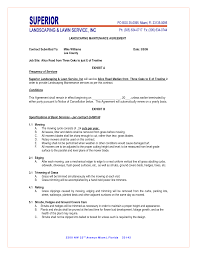 Landscaper Resume Landscaping Contract Template Outdoor Goods