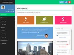 free control panel website templates 12 free css