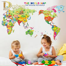 World Map Wall Decal Popular Kids World Map Wall Decal Buy Cheap Kids World Map Wall