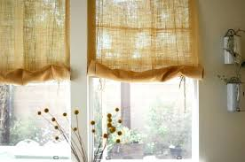 burlap kitchen window curtains turn an old burlap sack into the