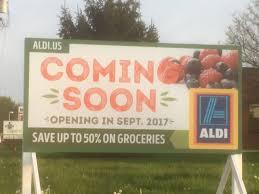 savoy aldi expects fall opening chambanamoms