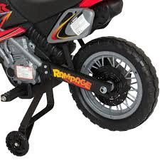 remote control motocross bike kids 6v electric ride on motorcycle dirt bike w training wheels