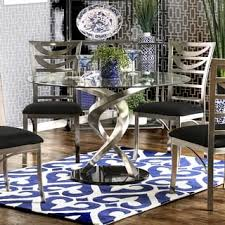 Glass Round Kitchen Table by Glass Dining Room U0026 Kitchen Tables Shop The Best Deals For Oct